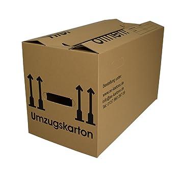 10 - Cajas de Mudanza 1 ondulación, doble fondo, reforzada.: Amazon.es: Oficina y papelería