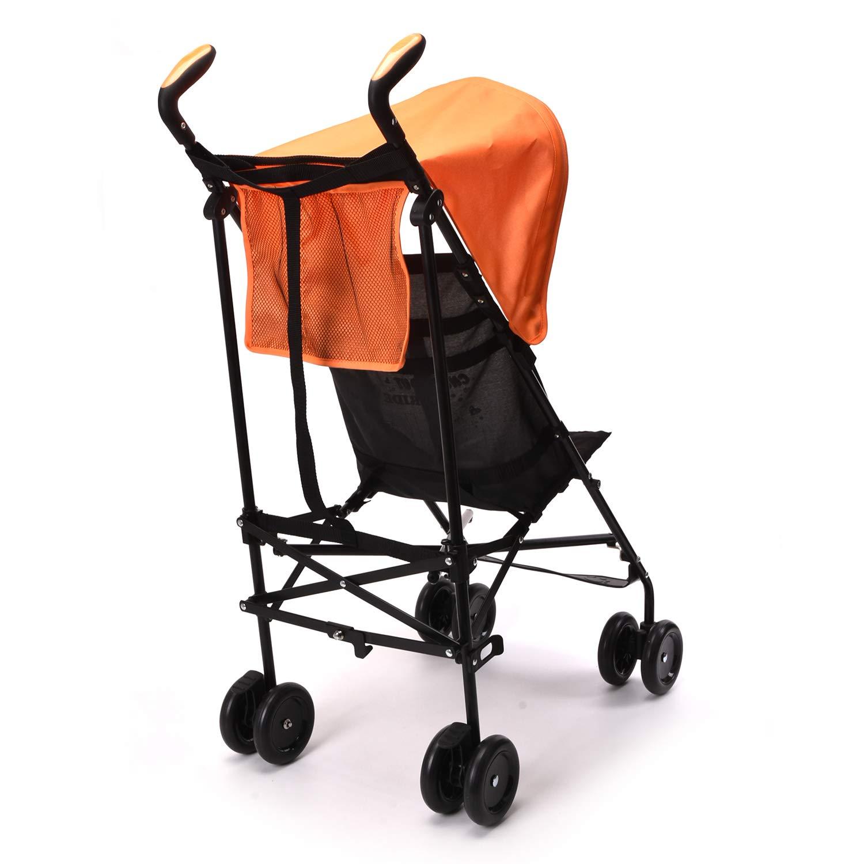 Wonder buggy Lightweight Baby Jumbo Umbrella Stroller with Rounded Hood (Orange) by Wonder buggy (Image #2)