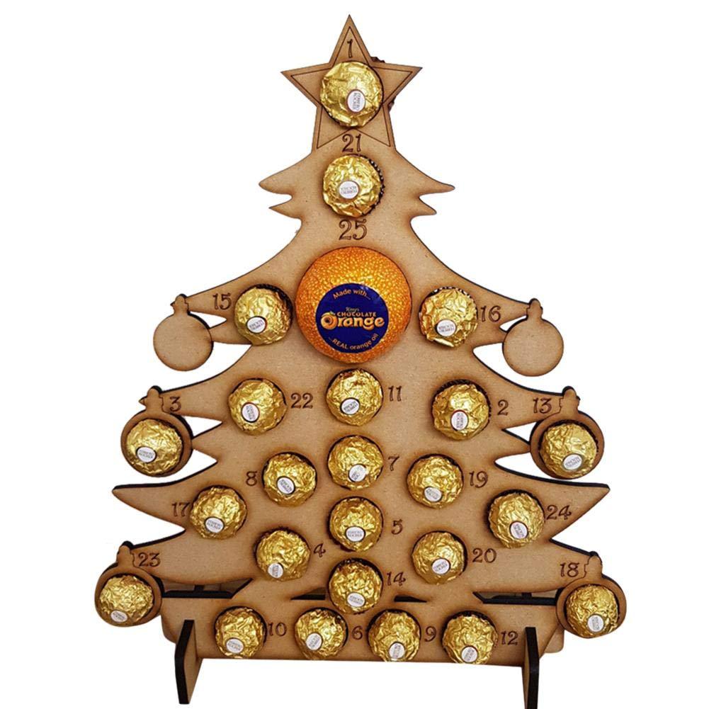 Albero Di Natale Decorazioni In Legno Per Il Conteggio Dei Cioccolatini Di Countdown Per L'albero Di Natale Calendario Muro Calendario Piccolo Hotel Famiglia Natale Ornamento By iStary EN04791_TWiSS