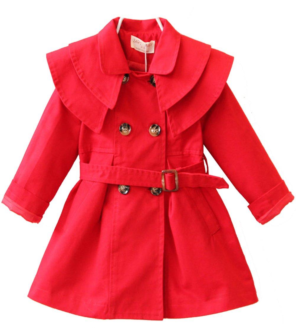 Kedera Little Girls Winter Autumn Botton Jacket Windbreaker Breasted Outwear Coat