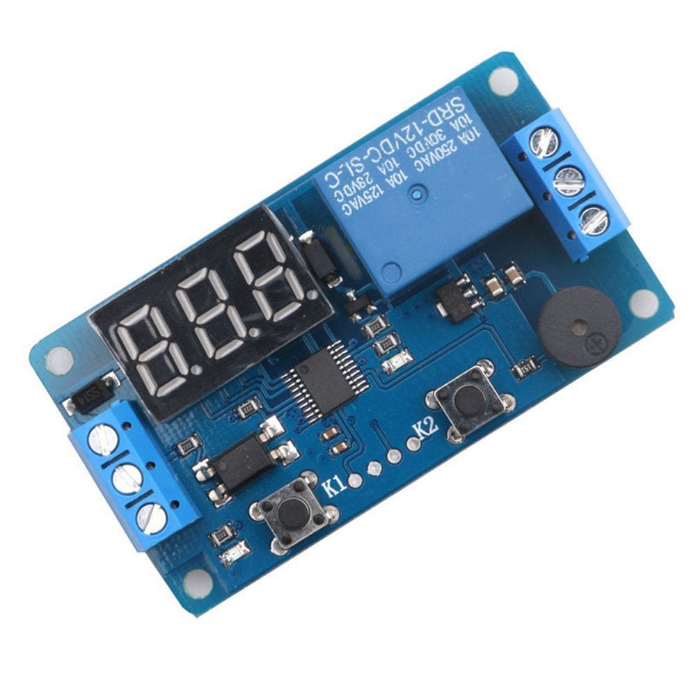 12v Display Led Timer Relay Programmable Digital Readout Module How To Build Electronic Selector For 10 Sources With Drive Delay Switch Board Car Buzzer2 Buttons