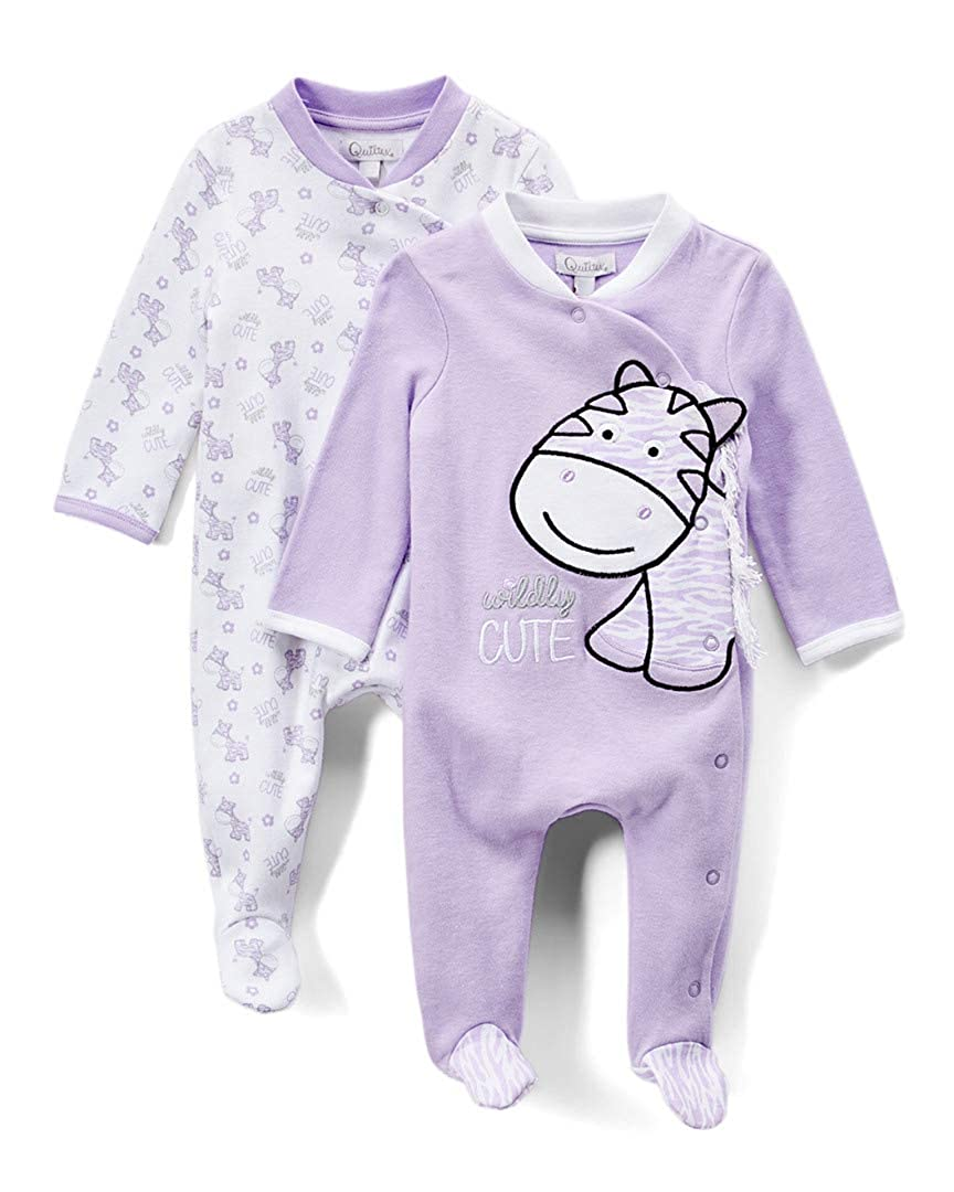 Quiltex Girls Toddler Wildy Print Cute Novelty Coverall 2 Pack Set QNG94213-1