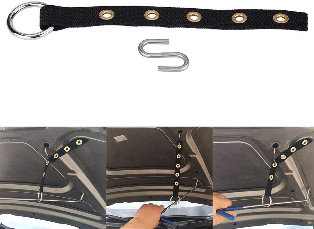 Cuque Dent Repair Tools Kit Repair Tool Car Dent Automobile Nylon Strap with Metal Hook for Paintless Dents Repair Rod