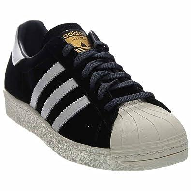 Mens Adidas Superstar 80s Deluxe Black 8 Low-Top Sneakers B25961