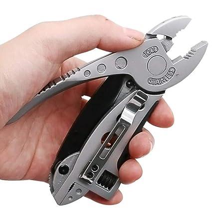 Mini multiherramienta Alicates Navaja kit determinado del destornillador de la llave inglesa ajustable Llave de quijada