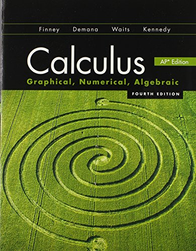 Calculus: Graphical, Numerical, Algebraic