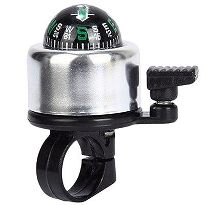 Fansport Bell à Vélo Anneau de Cloche de Vélo Cloche de Guidon de Vélo d Alliage d Aluminium Mini Avec La Boussole