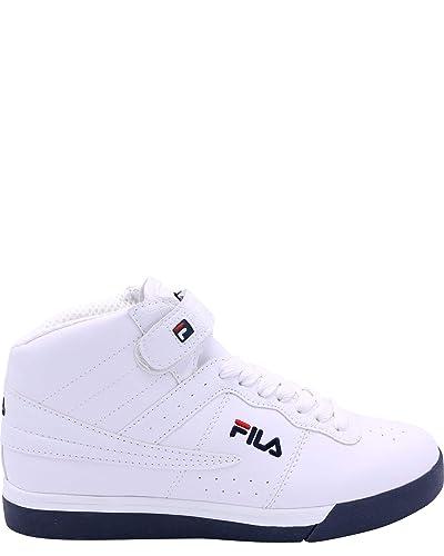 5c7ef4ca3a2b4 Fila-Men's Valc 13 Mid CRO Sneakers,White/navyred,8.5