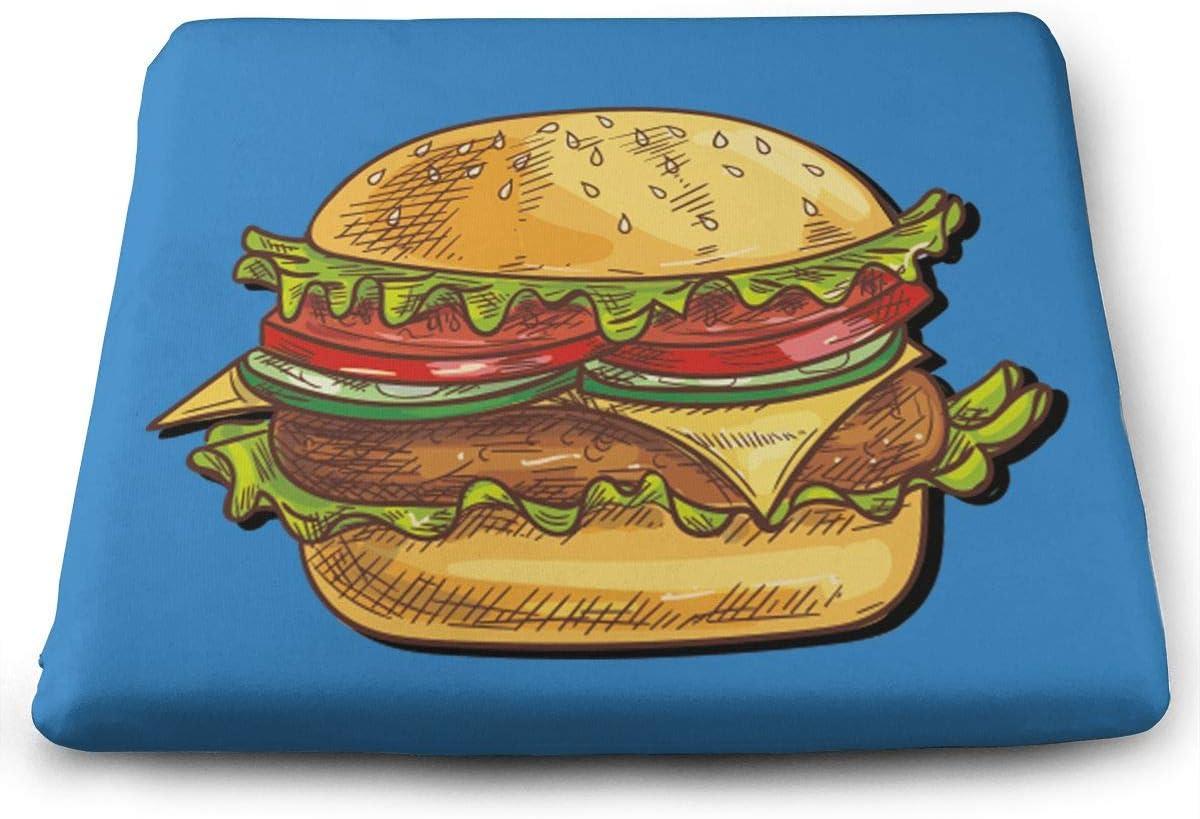 Amazon Com Comfortable Seat Cushion Chair Pad Beef Hamburger Perfect Memory Foam Cushions Lighten The Bumps Home Kitchen