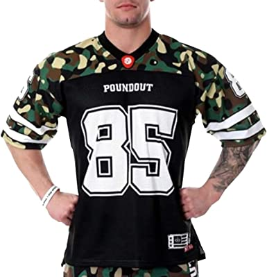 Camiseta de Hombre Estilo fútbol Americano y Fitness. Camisa Ancha para Entrenar (fútbol Militar) - XXL: Amazon.es: Ropa y accesorios