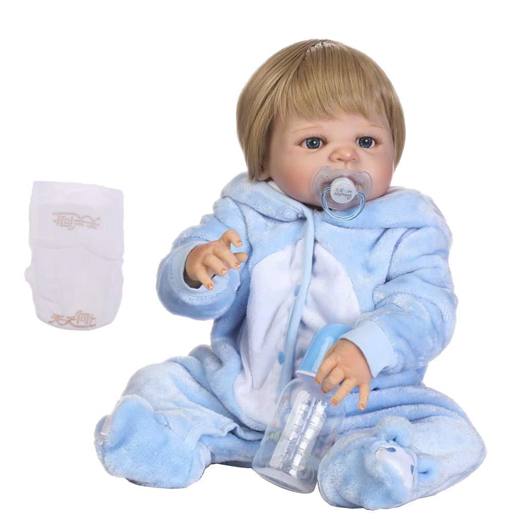 precio razonable P Prettyia Modelo Muñeca Niña Reborn Reborn Reborn de Vinilo de 22 Pulgadas Juguete Dormir para Niños - 1  saludable