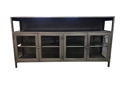 brand new 94b9e c34a5 Amazon.com: Dsigne Gallerie Carlo Media Console with Glass ...