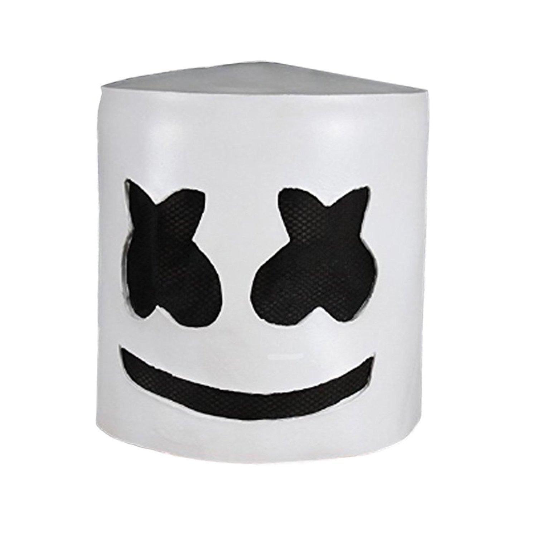 Music DJ Mask Party Props Full Head Mask Halloween Cosplay Replica Latex Helmet