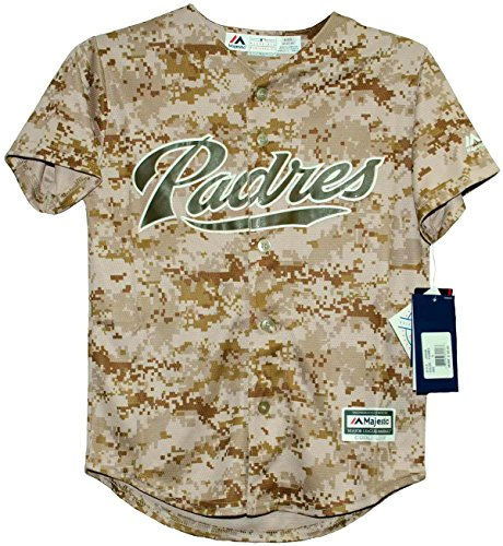 Majestic San Diego Padres USMC Camo Cool Base Infant, Toddler and Child Jerseys (Large (7)) - San Diego Padres Cool