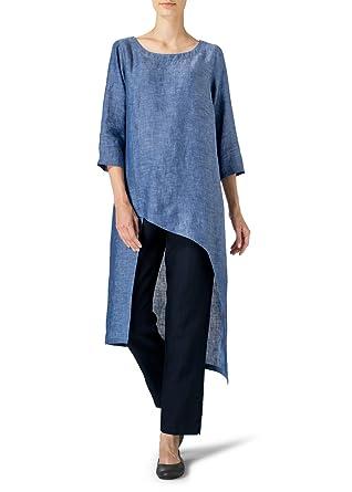 580518996c Vivid Linen Asymmetrical Tunic at Amazon Women s Clothing store