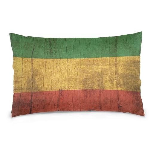 LORONA Funda de Almohada de Madera con diseño de la Bandera ...