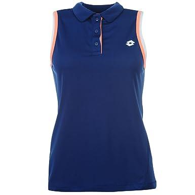 Lotto Mujer Polo Camisa Señoras Camiseta Top Vest Sin Mangas ...