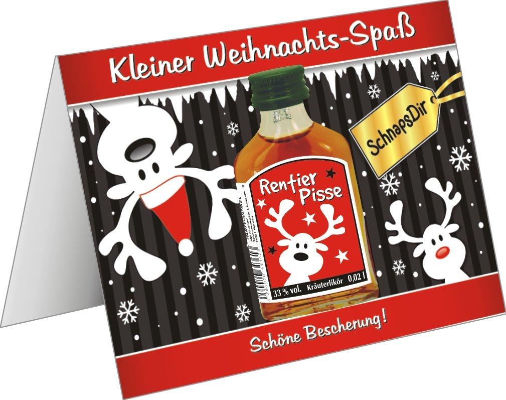 Weihnachtskarte mit Kräuterlikör lustige Grußkarte Weihnachtskarte ...