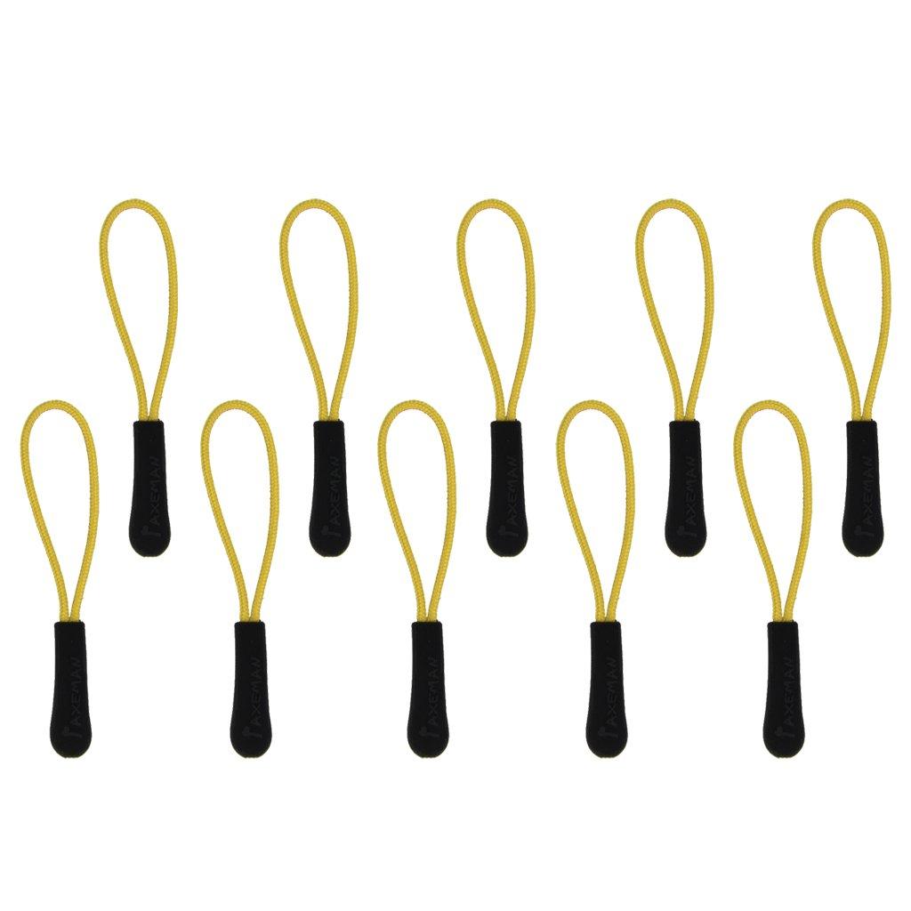 10 Stück Reißverschlusszipper Zipper Anhänger Reißverschlussanhänger Gelb Unbekannt KKTPY0283