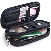 Makeup Bag for Women With Mirror,Pencil Case,Pouch Bag,Makeup Brush Bags Travel Kit Organizer Cosmetic Bag
