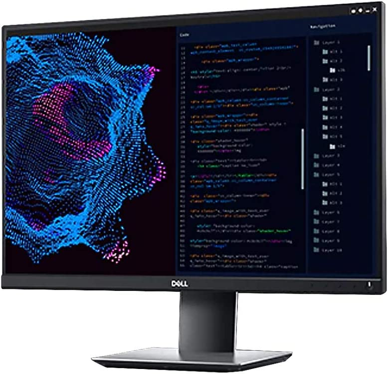 Dell P2421 24 Inch 1200p 16:10 WUXGA QHD, IPS Thin Bezel Monitor, HDMI, DisplayPort, VESA Certified, Black