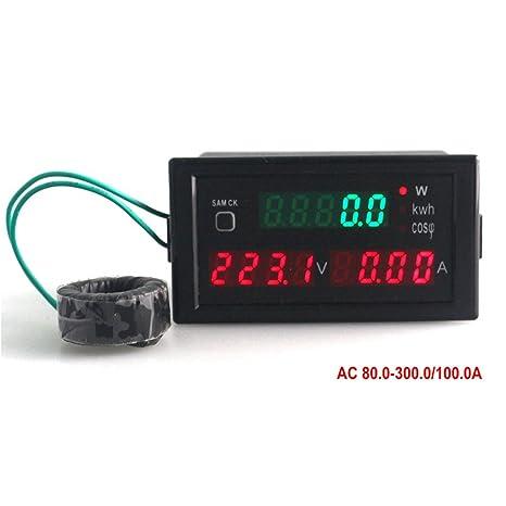 ketotek digital multimeter ac 80 300v 100a volt amp active power rh amazon com Tube Amplifier Car Amp Wiring