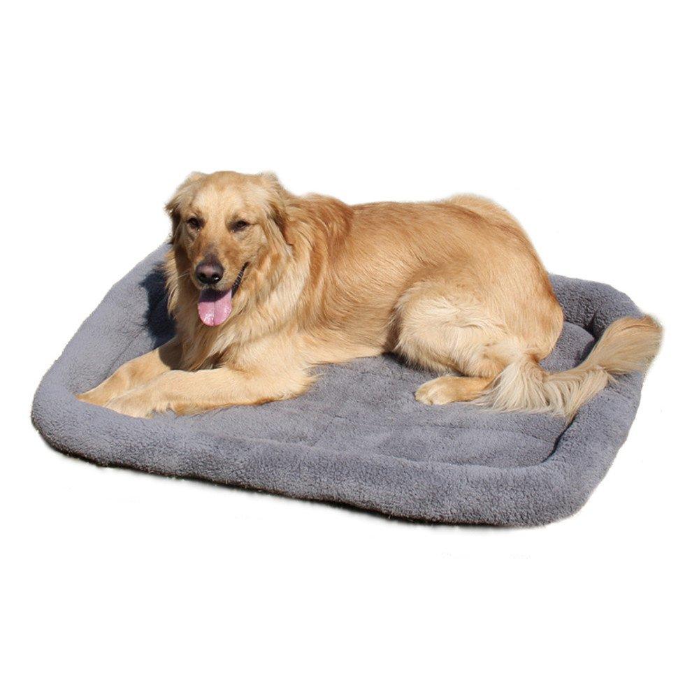 Letto per cani grande Cuscino per animali domestici Letto a pelo caldo Golden Retriever Gabbia Mat Casa Mat WANAYOU
