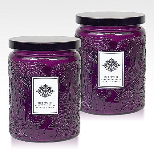 Dynamic Collections Aromatherapy Scented Candles - Great for Minimalistic Home Decor, Stress Relief, and Gift Set of Two 16 ounce Mason Jar Candles (Orange Vanilla Pillar)
