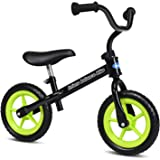 INFANS Lightweight Balance Bike, Kids Training Bicycle with Height Adjustable Seat & Handlebar, Inflation-Free EVA Tires, No-