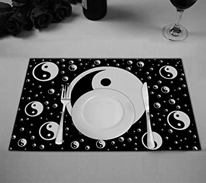 Amazon Custom Asian Placemat Chinese Symbol Of Taoism Yin Yang