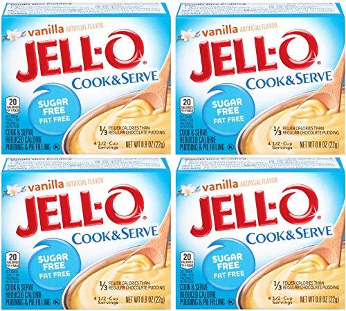 Jell-O, Cook & Serve, Sugar Free Vanilla, 0.8oz Box (Pack of 4) ()
