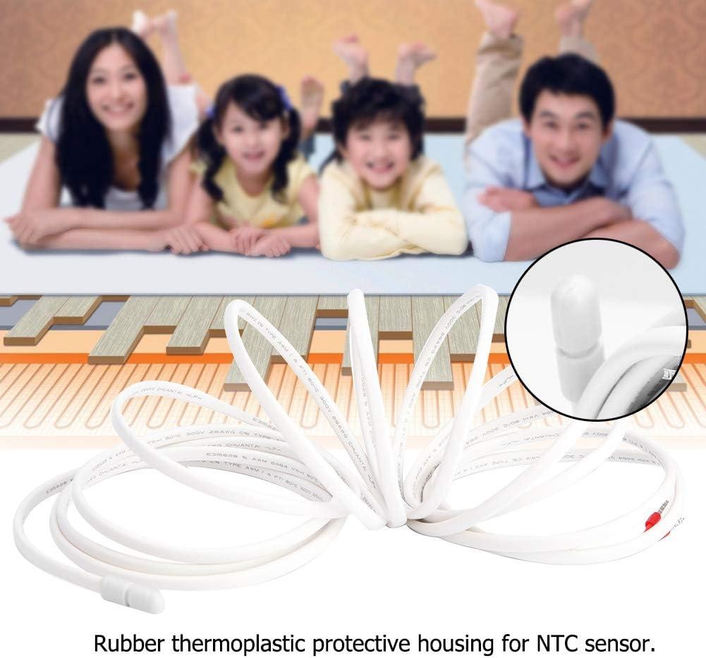Accessoire de Thermostat de Chauffage par Le Sol DeWin C/âble de capteur de temp/érature au Sol de 3 m/ètres//9,8 Pieds avec sonde