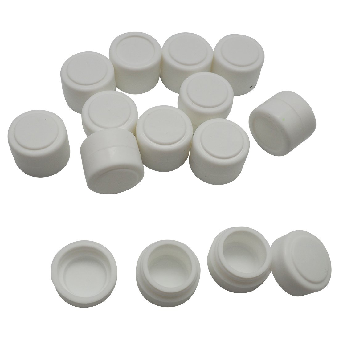 Gentcy Silicone 2ml White 300pcs Containers Silicone Storage Jar Seals Oil Wax Concentrate