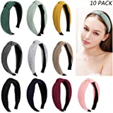 Jaciya 10 Pieces Knotted Headbands for Women Turban Headbands for Women Wide Headbands for Women Knot Headband 10 Colors