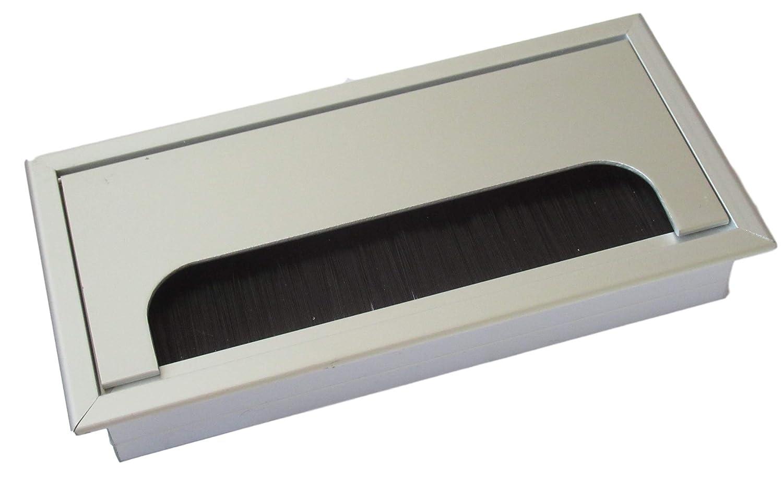 Guía para cables de 160 x 80 mm para escritorio/mesa – de aluminio ...