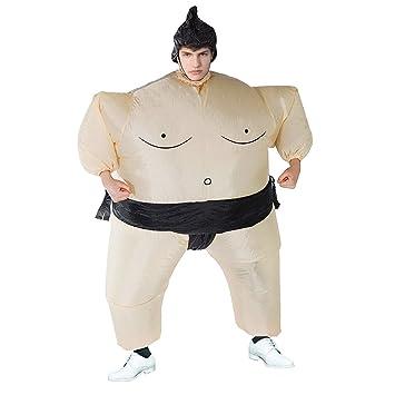 THEE Disfraces Inflable Luchador de Sumo Traje Hinchable para Halloween