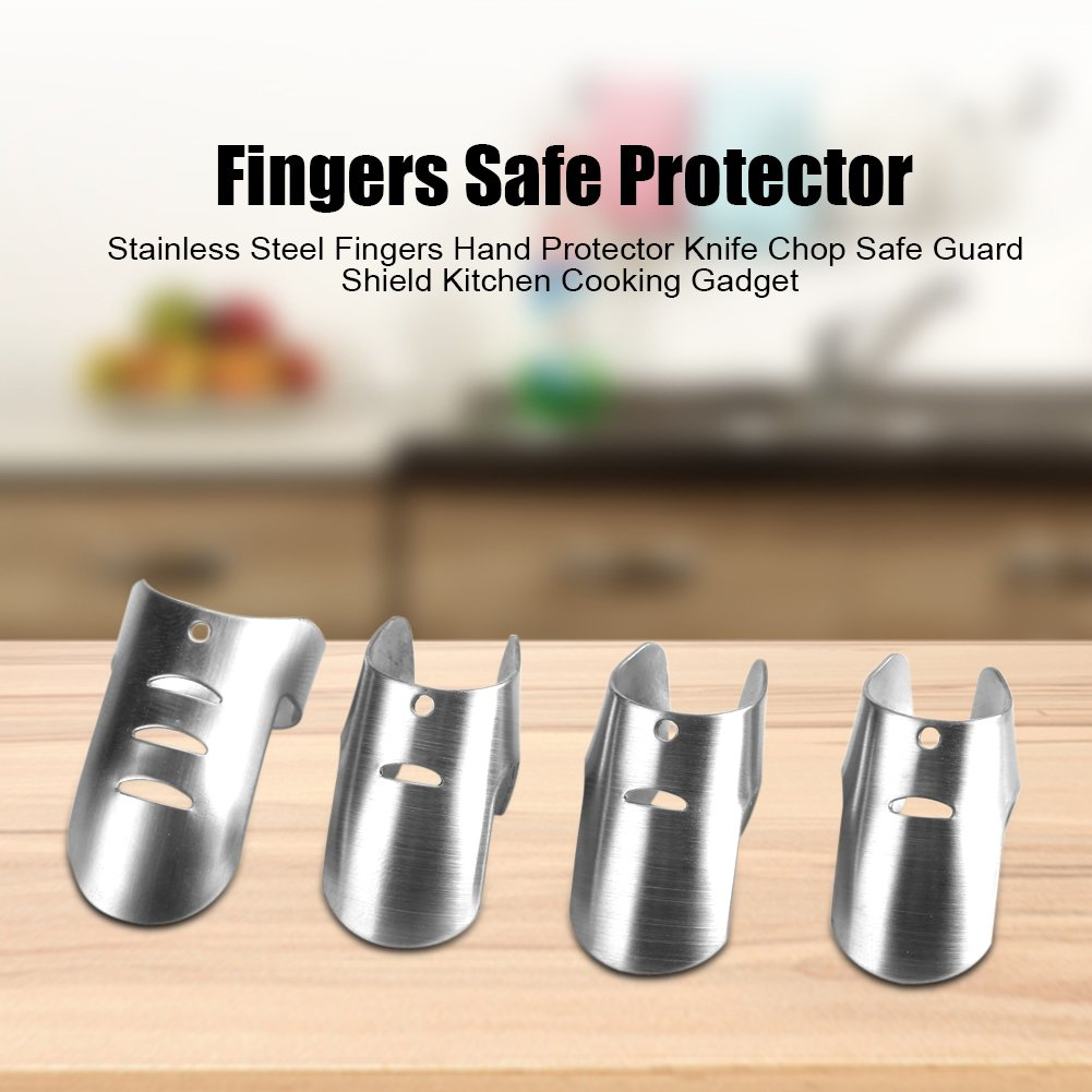 Finger Guard Chopping Hand Protector Knife Safe Shield Kitchen Cooking Gadget Stainless Steel (S) by Zerone (Image #8)
