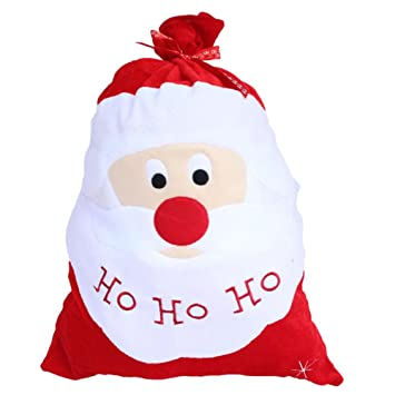 us santa claus large cloth gift bags christmas gift xmas present sack stockings by dealer
