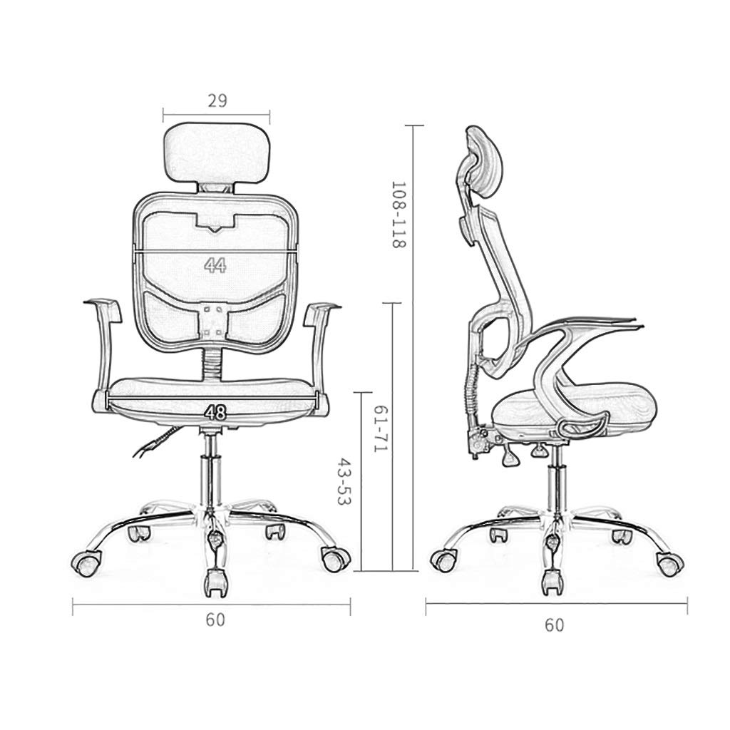 Stol kontorsstol skrivbordsstol kontor svängbar stol med hög rygg stort säte och uppfällbart armstöd dator skrivbord verkställande stol 5 färger gRÖN gRÖN