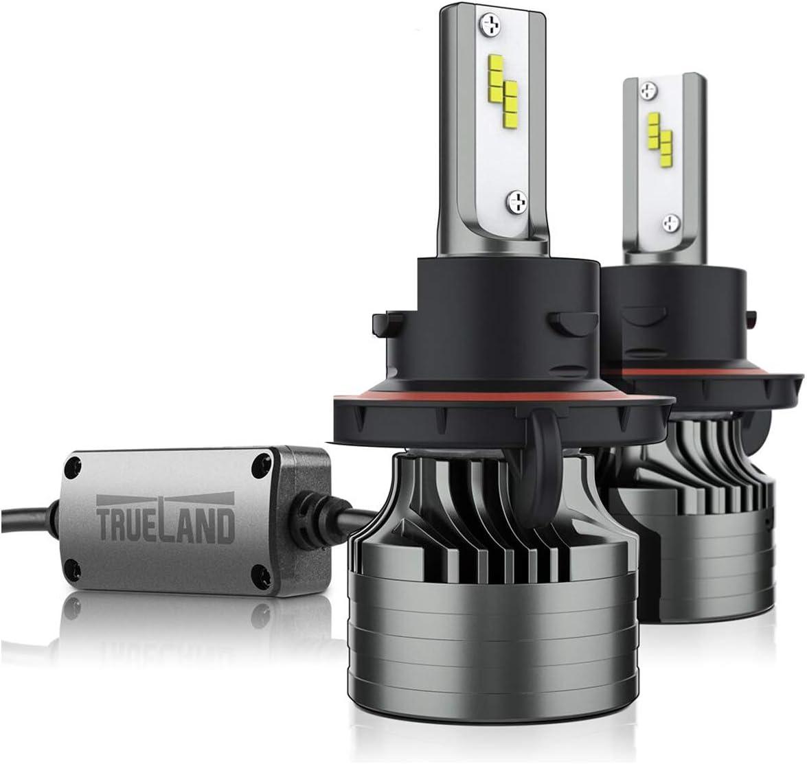 H13/9008 LED Headlight Bulbs A4 Series F250/ F150 LED Headlight Conversion Kit 10000LM Super Bright 6000K 9008 LED Headlamp Hi/Lo Beam Anti-Flickering Canbus Decoder Top CSP IP67 Silent Fans