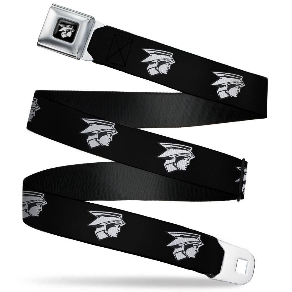 1.5 Wide-24-38 Inches Head Emblem Black//White Buckle-Down Mens Seatbelt Belt Ford Mercury Regular
