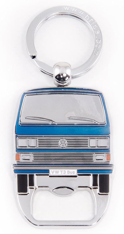 Brisa Vw Collection Volkswagen T3 Bulli Bus Schlüssel Anhänger Flaschenöffner Geschenk Idee Fan Souvenir Retro Vintage Artikel Blau Bekleidung