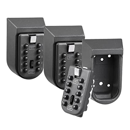 167e0a155245 Yescom 10 Digit Press Button Wall Mounted Combination Key Lock Box Safe  Security Storage Case Organizer Home Pack of 3