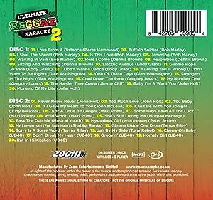 Zoom Karaoke CD+G - Ultimate Reggae Karaoke 2 (Double CD+G) - 40 Songs