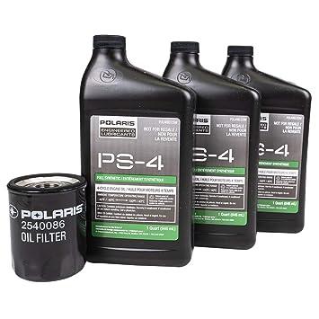 Full Synthetic Oil Change >> Polaris Ps 4 Full Synthetic Oil Oil Change Kit 2881696