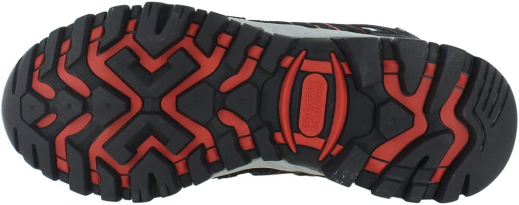Pacific Mountain Mens Crest Grey, Black, Red