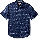 Original Penguin Men's Short Sleeve Xmas Skier Print, Medieval Blue, Medium