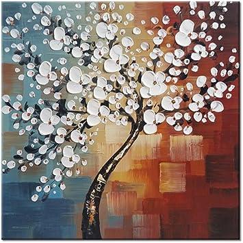 Wieco Art Gloria de la mañana 100% Pintado a Mano Arte Moderno Abstracto Pintura al óleo Sobre Lienzo Floral Arte de Pared para decoración del hogar Pared decoración UK-FL1089-6060