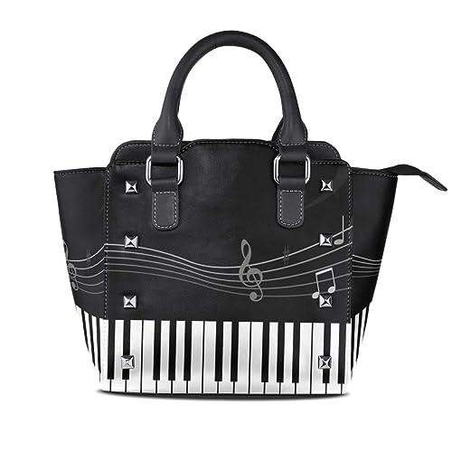 Amazon.com: Piano Notes Bolsos de piel Bolsas de hombro ...