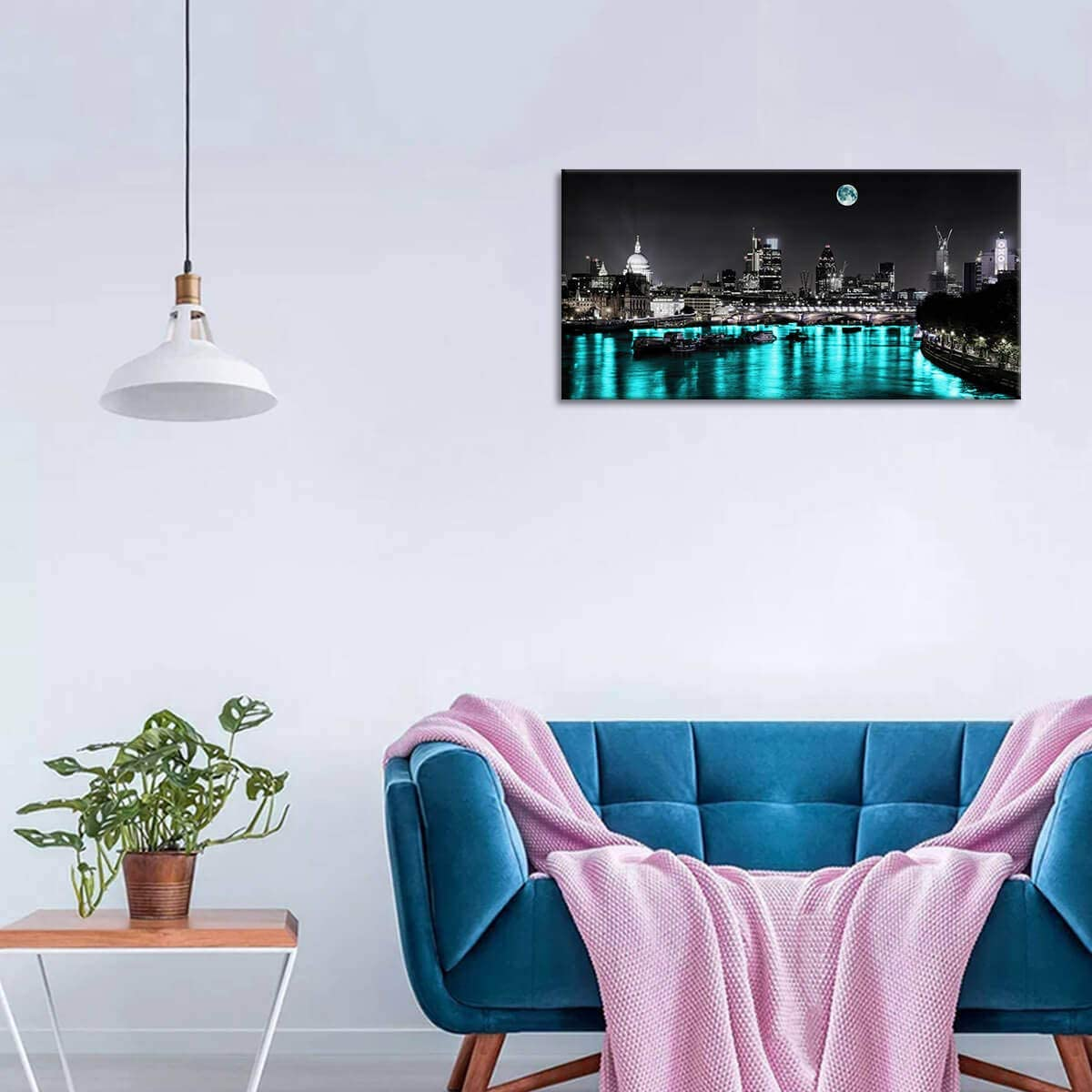 Bathroom Decor Wall Art Blue Succulent Pictures Wall Decor Bling Artwork for Home Walls Restroom Decor Flower Wall Pictures for Bedroom Wall Decorations for Home Office Canvas Art 20x40inch
